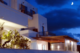 pelagos amorgos hotel by night
