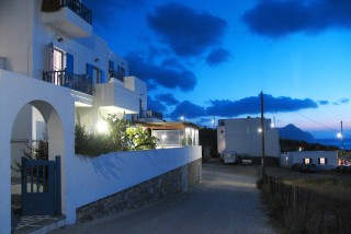 pelagos hotel in amorgos by night