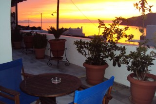 pelagos hotel sunset view balcony