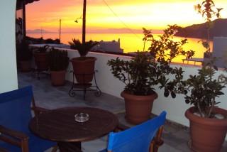 pelagos hotel sunset view balcony